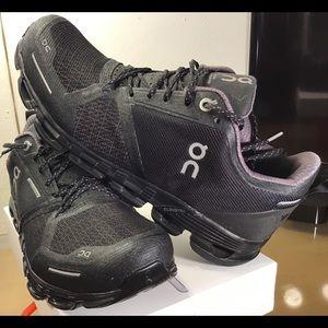 On Cloud Waterproof Sneakers- Black.
